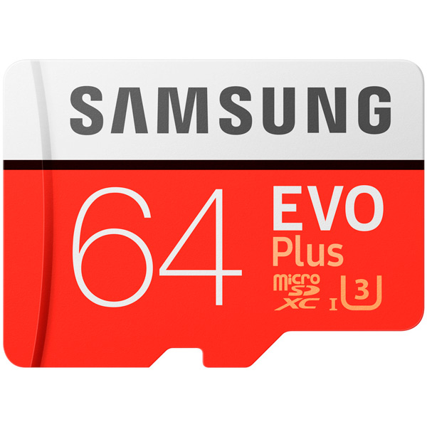 Карта памяти SDXC Micro Samsung 64GB Evo Plus (MB-MC64GA/RU)