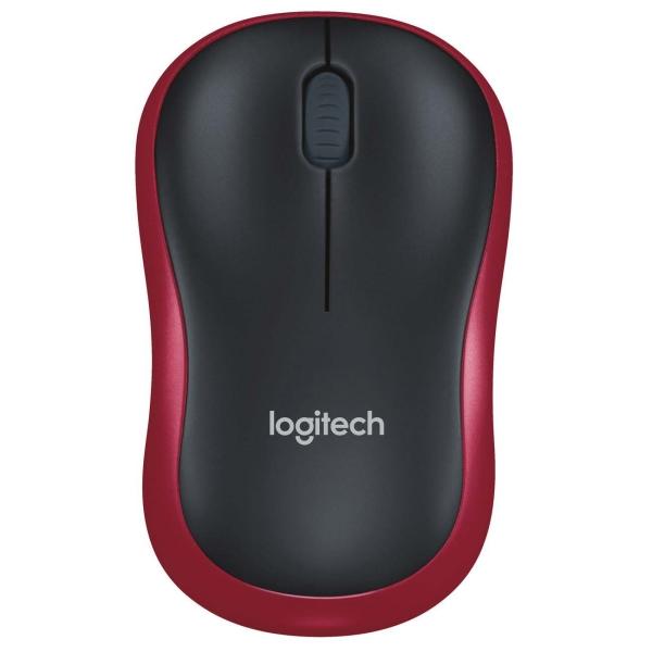 Мышь беспроводная Logitech M185 Black/Red (910-002240)