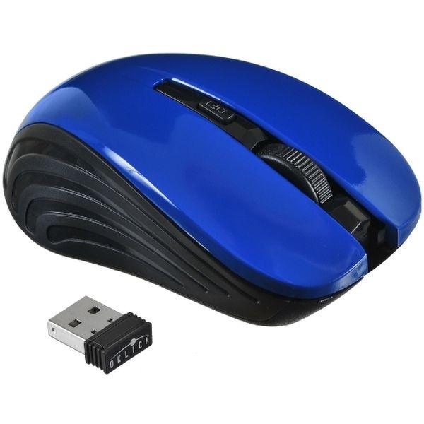 Мышь беспроводная Oklick 545MW Black/Blue