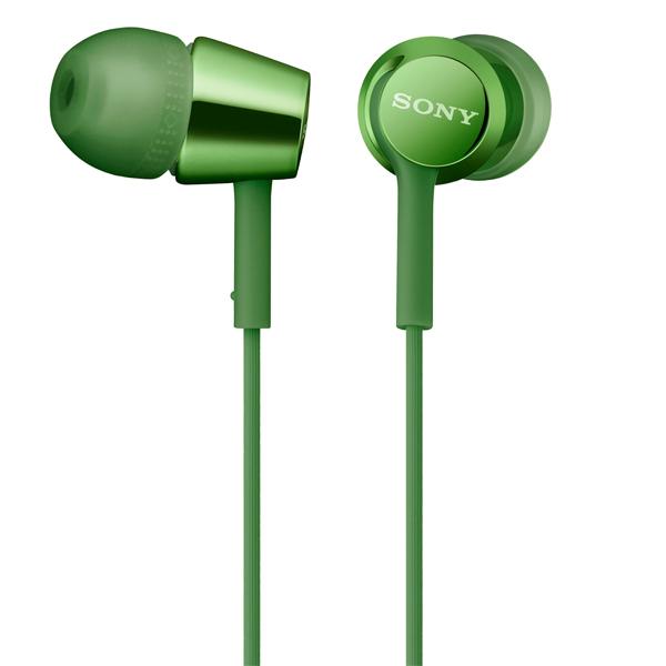 Наушники внутриканальные Sony MDR-EX155AP Green зеленого цвета