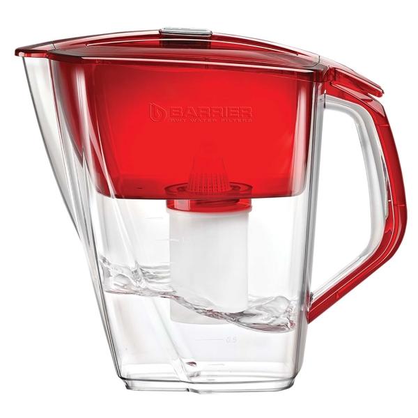 Фильтр для очистки воды Барьер Гранд Нео рубин красного цвета