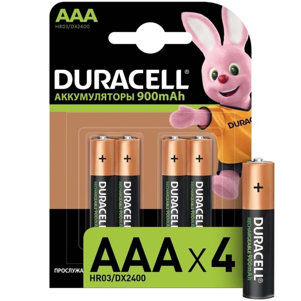 Аккумулятор Duracell AAА HR03-4BL 850mAh  Turbo 4шт. предзаряженные аккумулятор aaa duracell hr03 850 mah bl2 2 штуки
