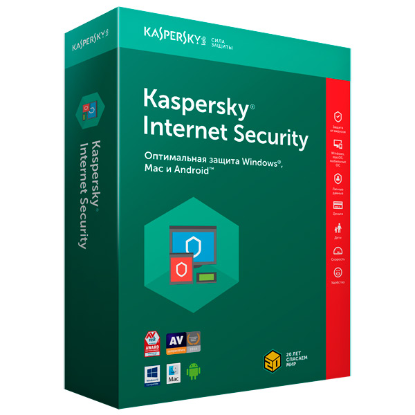 Антивирус Kaspersky IS 1 уст/1 год М.Видео