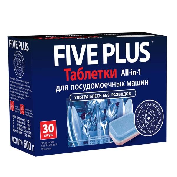 Моющее средство для посудомоечной машины Five Plus All-in-1 30 штук