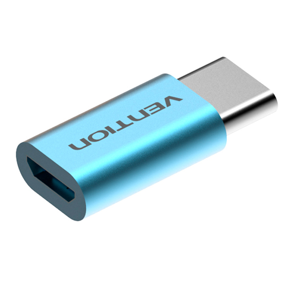 Кабель для компьютера Vention USB-C-папа/microUSB-мама Light Blue