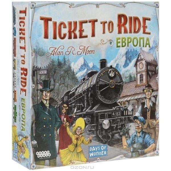 Настольная игра Hobby World Ticket to Ride: Европа (1032)
