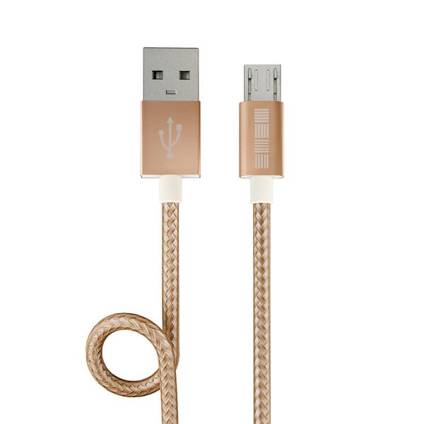 Кабель для сотового телефона InterStep USB-miсroUSBPVC/Nylon Gold 2м кабель partner usb 2 0 microusb 2 1а 0 2м