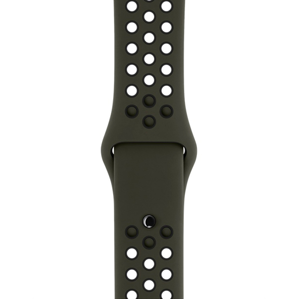 Ремешок Apple 38mm Cargo Khaki/Black Nike Sport Band S/M & M/L умные часы apple watch series 3 38mm grey space with black sport band mqkv2ru a