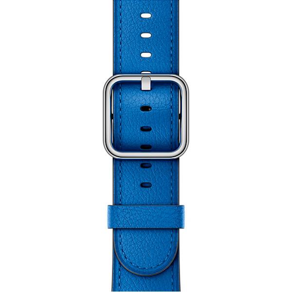 Ремешок Apple 38mm Electric Blue Classic Buckle умные часы apple watch series 3 38mm grey space with black sport band mqkv2ru a