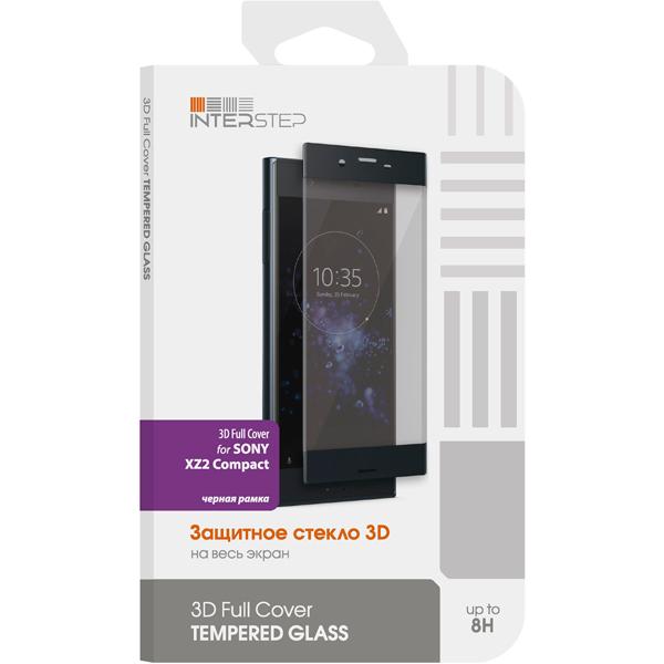 Защитное стекло InterStep 3D Full Cover для Sony XZ2 Compact Black аксессуар защитное стекло sony xperia xa1 plus solomon full cover black