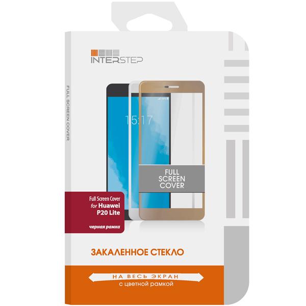 Защитное стекло InterStep Full Screen Cover для Huawei P20 Lite черная рамк защитное стекло perfeo для huawei p8 lite 17 0 33мм 2 5d full screen asahi 83 золотистый pf 5070 pf tg fa hw p8lg