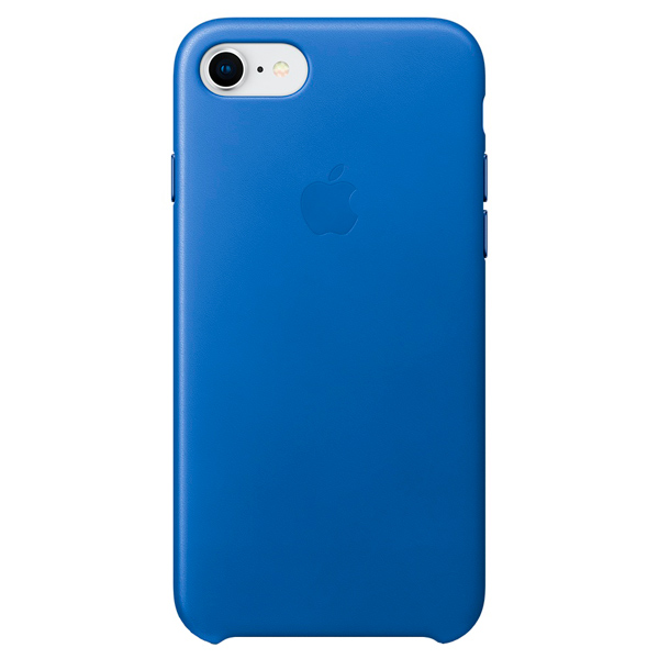 Чехол для iPhone Apple iPhone 8/7 Leather Case Electric Blue аксессуар чехол apple iphone 8 7 leather case cosmos blue mqhf2zm a
