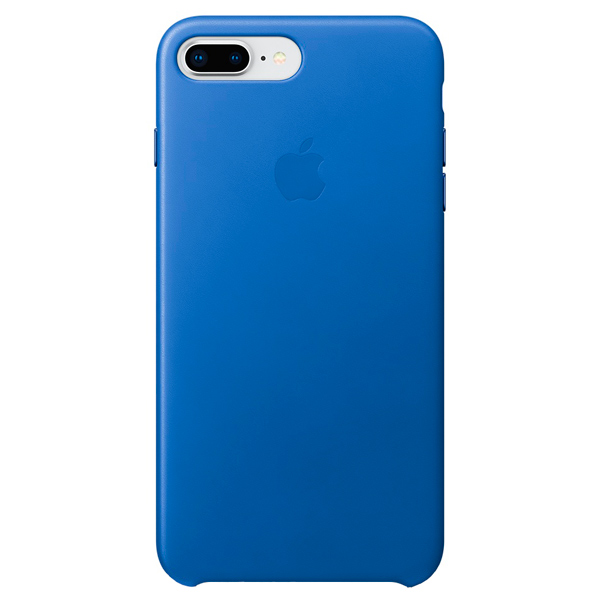 Чехол для iPhone Apple iPhone 8 Plus/7 Plus Leather Case Electric Blue аксессуар чехол apple iphone 8 7 leather case cosmos blue mqhf2zm a