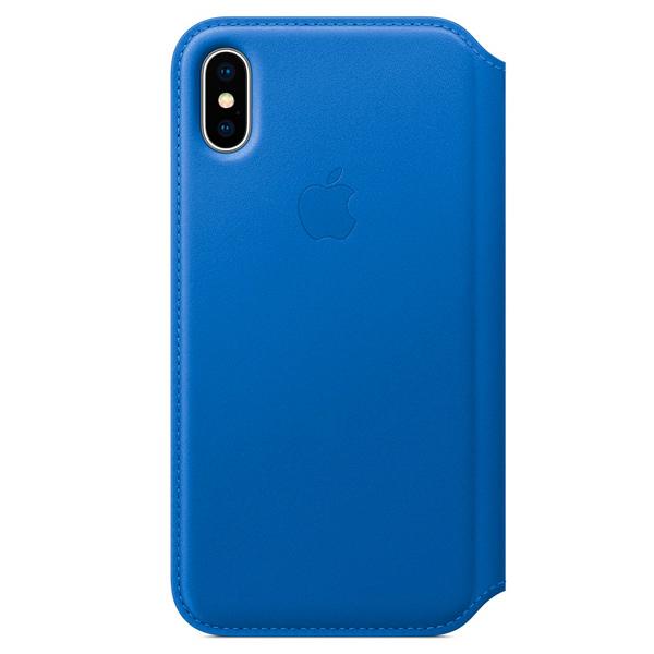 Фото - Чехол для iPhone Apple iPhone X Leather Folio - Electric Blue чехол для iphone apple iphone x leather folio black mqrv2zm a