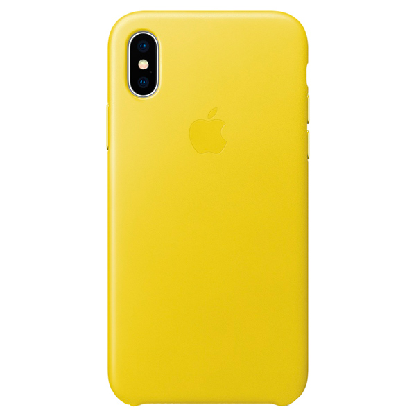 Чехол для iPhone Apple iPhone X Leather Case Spring Yellow кейс для микшерных пультов thon mixer case powermate 1600 2