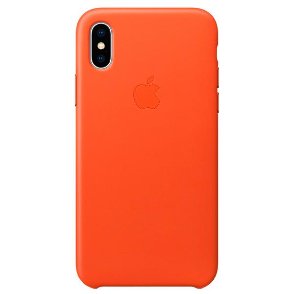 Чехол для iPhone Apple iPhone X Leather Case Bright Orange кейс для микшерных пультов thon mixer case powermate 1600 2