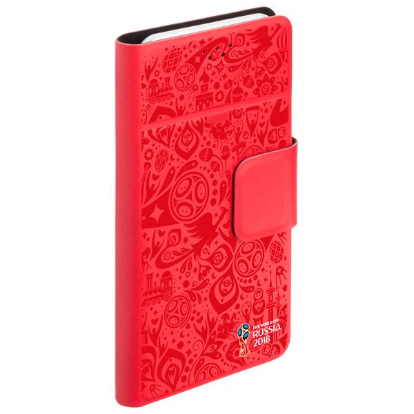 Универсальный чехол для смартфона 2018 FIFA WCR Official Pattern 4,3-5, Red (104566)