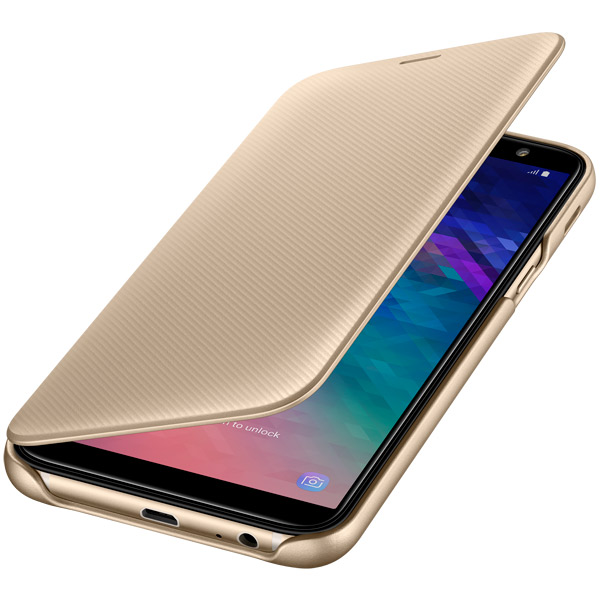 Чехол Samsung Wallet Cover для  Galaxy A6 (2018), Gold