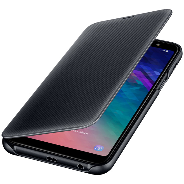 Чехол Samsung Wallet Cover для  Galaxy A6+ (2018), Black