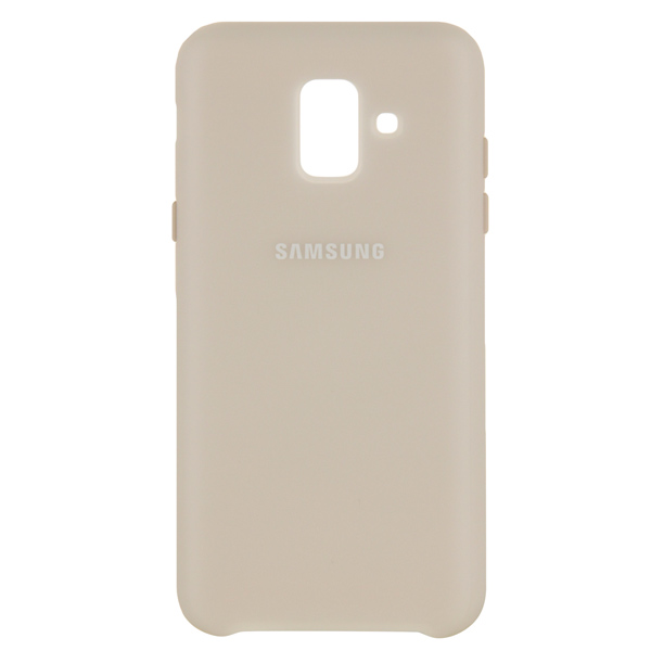 Чехол для Samsung Samsung Dual Layer Cover д/Samsung Galaxy A6 (2018), Gold samsung me7r4mr