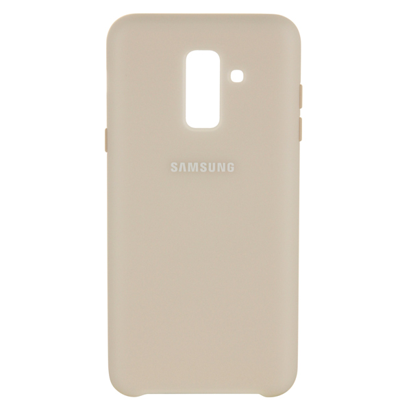 Чехол для Samsung Samsung Dual Layer Cover д/Samsung Galaxy A6+ (2018),Gold samsung me7r4mr