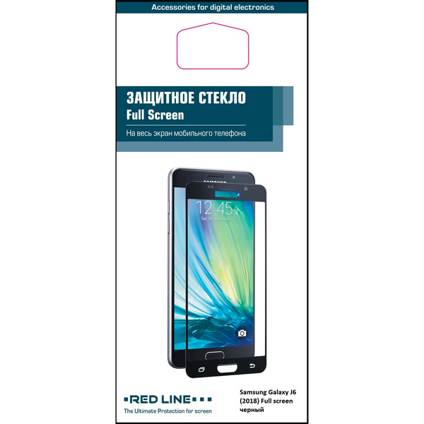 Фото Защитное стекло для Samsung Red Line для Samsung Galaxy J6 (2018), Black (УТ000015341) 110db loud security alarm siren horn speaker buzzer black red dc 6 16v