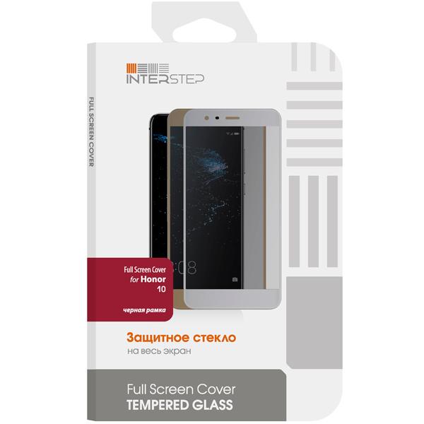 Защитное стекло InterStep Full Screen Cover для Honor 10, Black Frame аксессуар защитное стекло samsung galaxy a3 2017 solomon full cover black