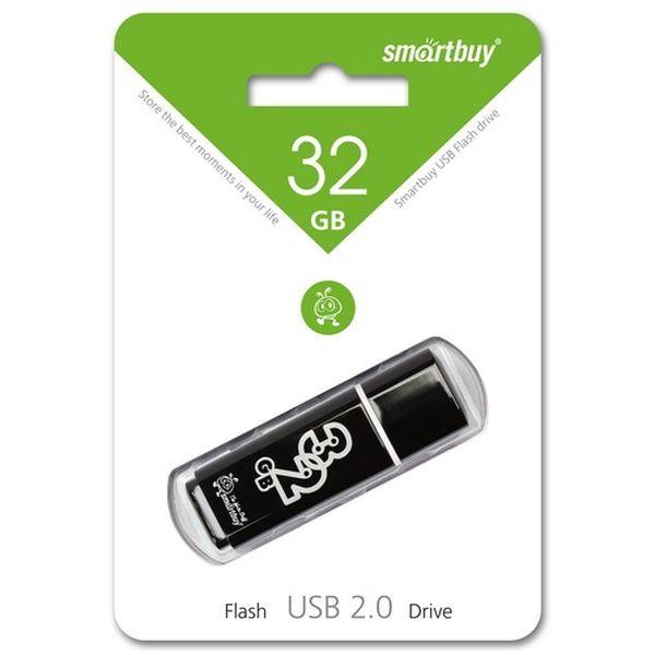 usb flash drive 32gb smartbuy glossy dark grey sb32gbgs dg Флеш-диск Smartbuy 32GB Glossy Black(SB32GBGS-K)