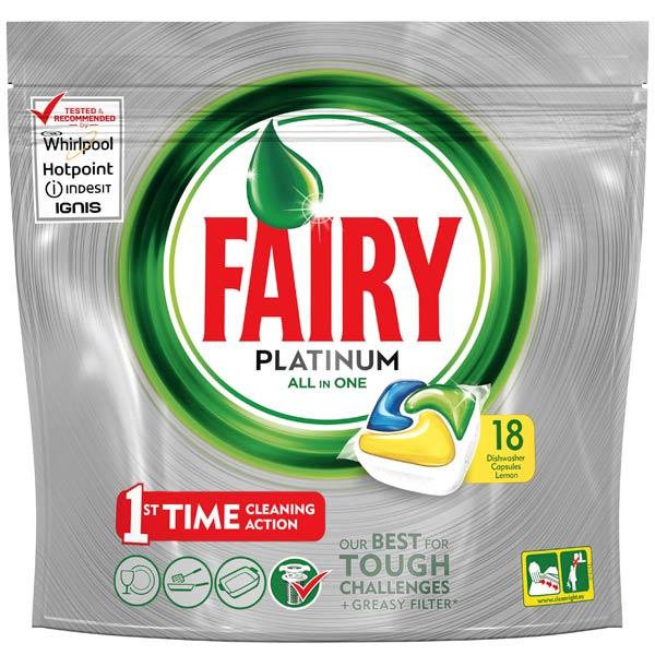 Моющее средство для посудомоечной машины Fairy Platinum 18 All-in-One