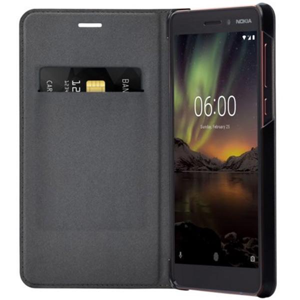 Чехол для сотового телефона Nokia Leather Flip Cover для Nokia 6.1 (CP-308 Black)