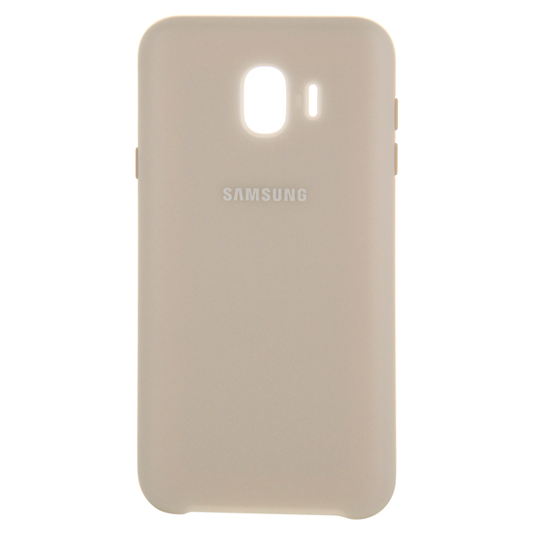 Чехол для Samsung Samsung Dual Layer Cover д/Samsung Galaxy J4 (2018), Gold samsung me7r4mr