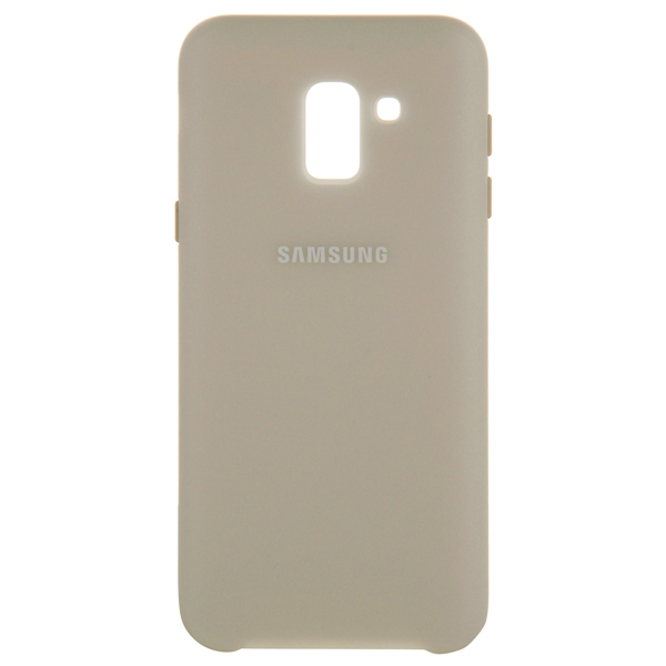 Чехол для Samsung Samsung Dual Layer Cover д/Samsung Galaxy J6 (2018), Gold samsung me7r4mr