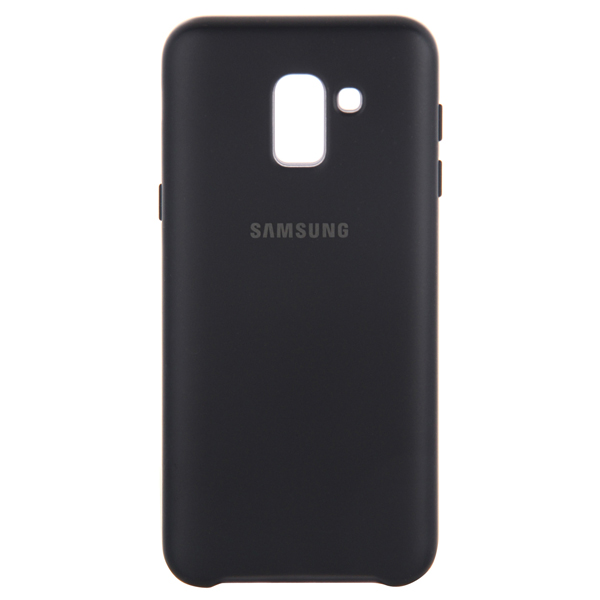 Чехол Samsung Dual Layer Cover д/Samsung Galaxy J6 (2018),Black чехол для samsung galaxy j6 2018 samsung dual layer cover ef pj600cbegru black