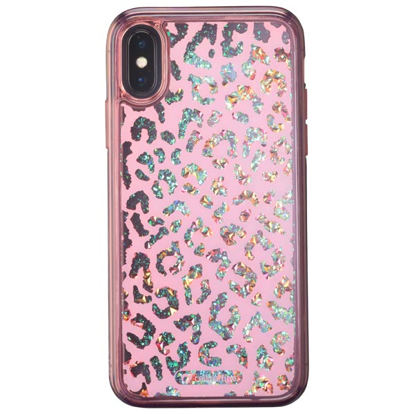 Чехол для iPhone Cellular Line Stardust Leopard для Apple iPhone X cellular line satiniph647g green