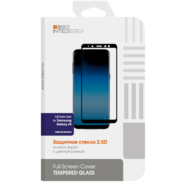 Защитное стекло для Samsung InterStep Full Screen Cover / Galaxy J4,Black Frame