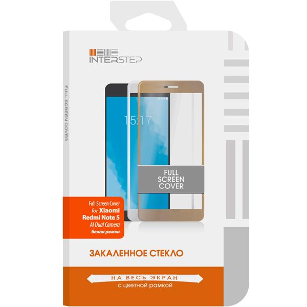 Защитное стекло InterStep Full Scr.Cover для Xiaomi Redmi Note 5 (AI),White caseguru для xiaomi redmi note 4 full screen white