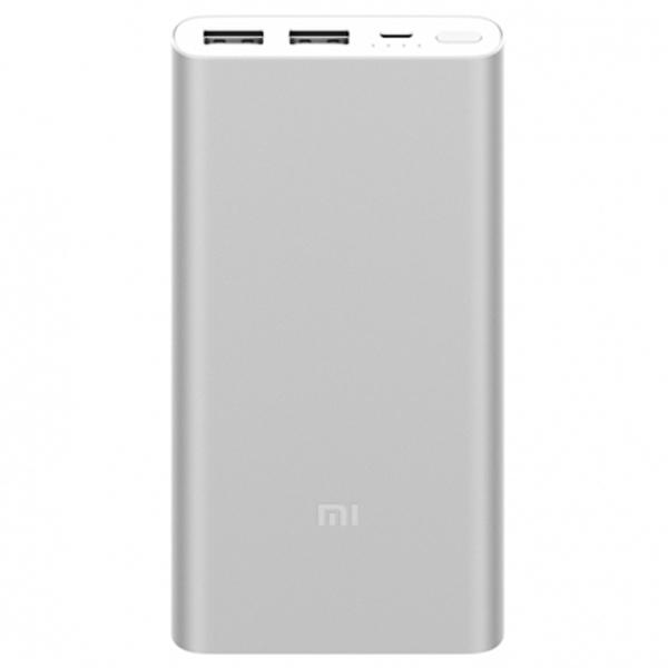 Купить Внешний аккумулятор Xiaomi Mi Power Bank 2S 10000mAh Silver PLM09ZM  в каталоге интернет магазина МВидео по выгодной цене с доставкой отзывы фотографии - Москва