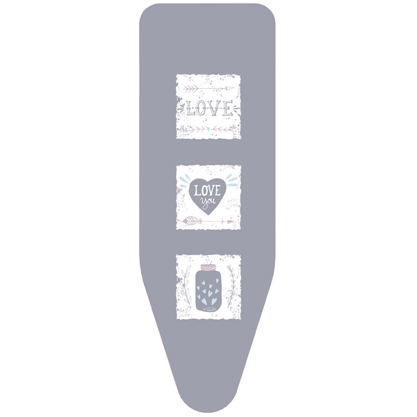Чехол для гладильной доски Colombo Hypster Love M (124х46) V3