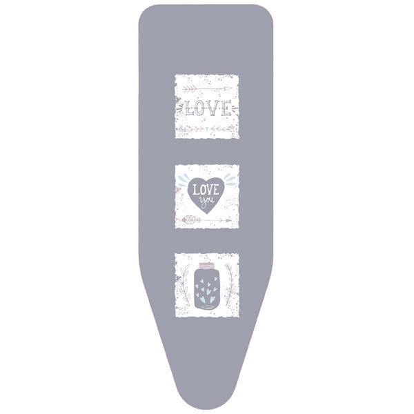 Чехол для гладильной доски Colombo Hypster Love L (130х50) V3