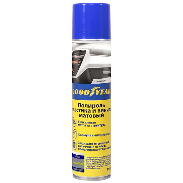 Средства для ухода за автомобилем Goodyear Полироль пластика 400мл (GY000714) прозрачный