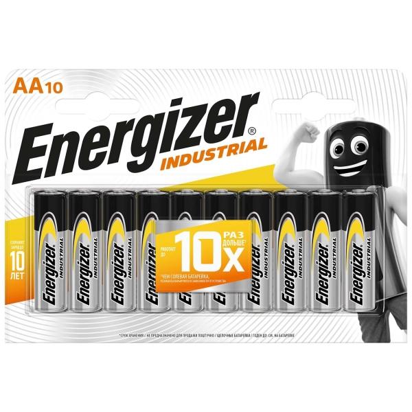Батарея Energizer Industrial AA-LR6 10шт. (E301424500)