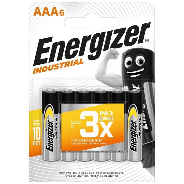 Батарея Energizer Industrial AAA-LR03 6шт.