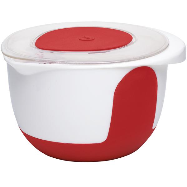 Миска с крышкой Emsa Mix & Bake 3л. White/Red 508019