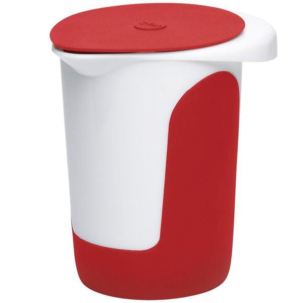Стакан с крышкой Emsa Mix & Bake 1л. White/Red 508017