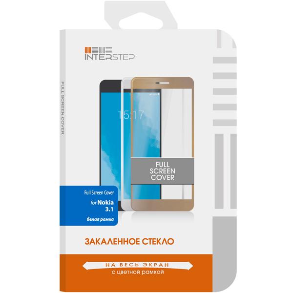 Защитное стекло InterStep Full Screen Cover для Nokia 3.1 2018, White Frame