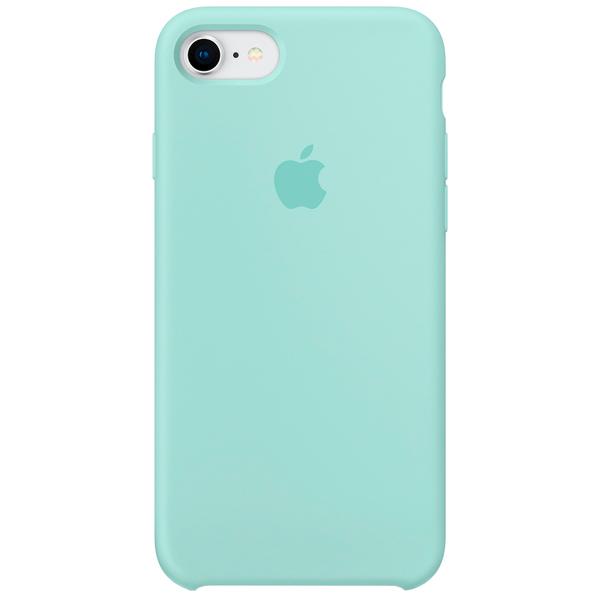 Чехол для iPhone Apple iPhone 8 / 7 Silicone Case, Marine Green кейс для iphone apple iphone 7 silicone case ocean blue mmww2zm a
