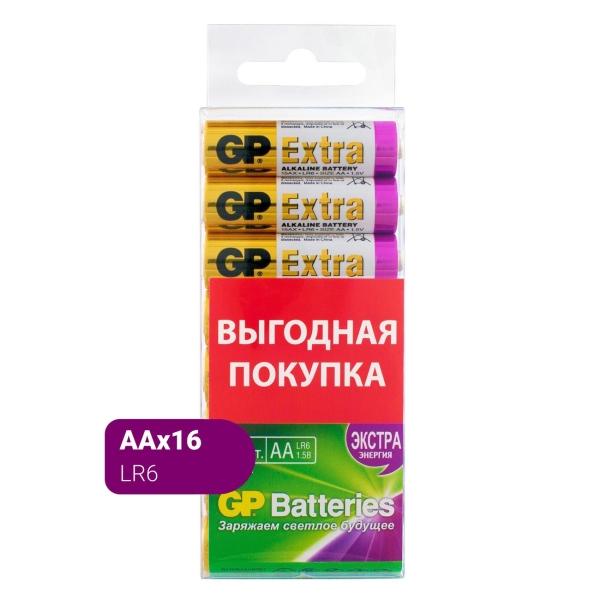 Купить Батарея GP Extra Alkaline AA (LR6), 16 шт. (GP15AX-2CRB16) в каталоге интернет магазина М.Видео по выгодной цене с доставкой, отзывы, фотографии - Пятигорск