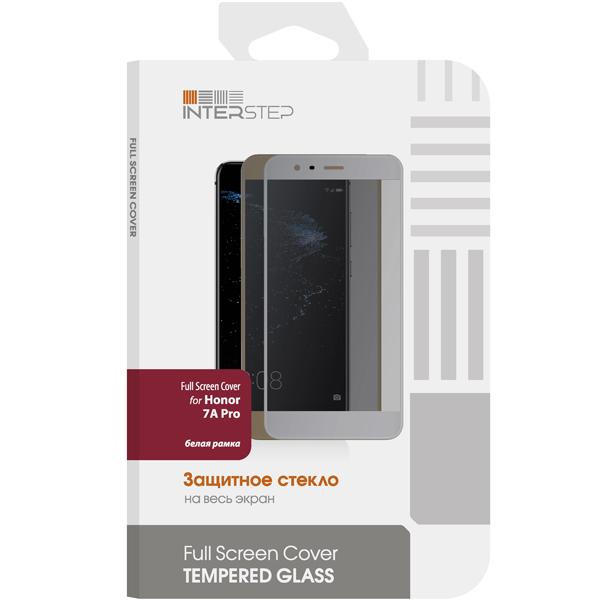 Защитное стекло InterStep Full Screen Cover Honor 7A Pro бел рамк