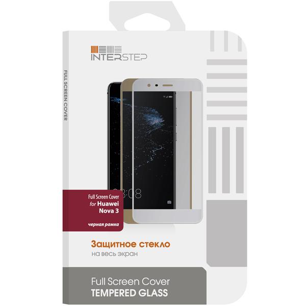 Защитное стекло InterStep Full Screen Cover для Huawei Nova 3, черная рамка