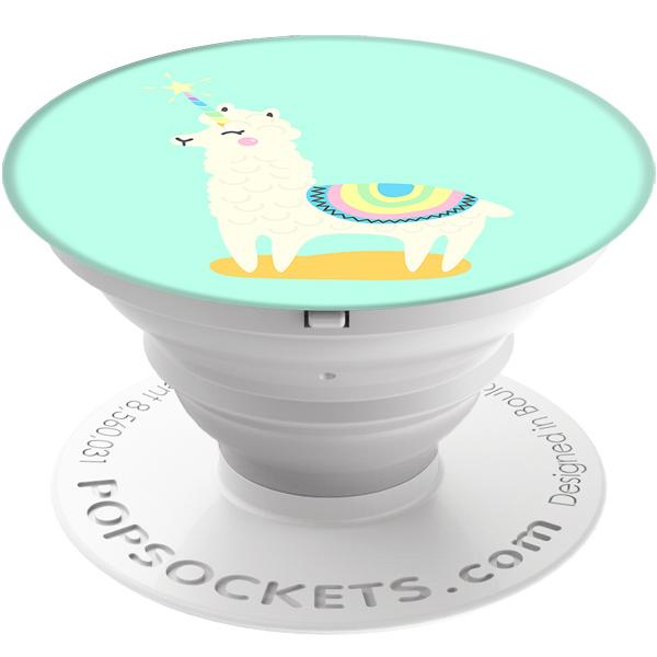 Кольцо-держатель для телефона Popsockets Llamacorn Light Blue (800021)